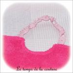 Enfant - bavoir double - rose vif et imp licorne rose03 - GFC
