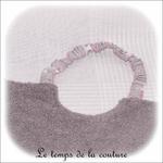 Enfant - bavoir double - gris et imp licorne gris03 - GFC