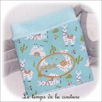 Enfant - couverture - vert d'eau imp lama01 - GFC