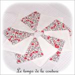 Sdb - lingette bambou - rouge et gris petite fleur02 - GFC