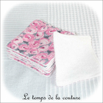 Sdb - lingette bambou - rose et gris fleur01 - GFC