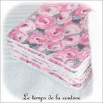 Sdb - lingette bambou - rose et gris fleur03 - GFC