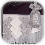 Sdb - lingette+pochon bambou - gris petite fleur01 - GFC