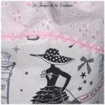 Sac - pochon - rose dentelle croquet imp parisienne02 - GFC