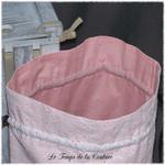 Sac - pochon - rose dentelle croquet imp parisienne03 - GFC