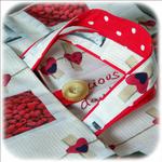 Cuisine - sac tarte - beige rouge imp framboise03 - GFC