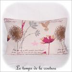 Coussin - écru et creme jacquard colibri rectangle01 - GFC