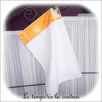 Cuisine - essuie mains rectangle - blanc et jaune vert noir olive01 - GFC