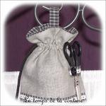 Cuisine - Sac ficelle - gris noir et blanc à carreaux03 - GFC