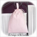 Sac pochon - rose taupe mini motif01 - GFC