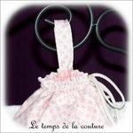 Sac pochon - rose taupe mini motif02 - GFC
