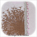 Coussin - écru et creme vertcale jacquard colibri04 - GFC