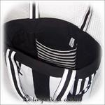 Sac - cabas non zippe - blanc noir rayure02 - GFC