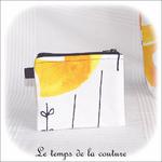 Pochette - droite - zippé - noir  jaune blanc rond ikea02 - GFC