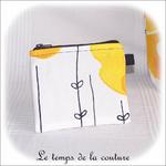 Pochette - droite - zippé - noir  jaune blanc rond ikea04 - GFC