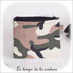 Pochette - droite -zippé - noir kaki marron militaire01 - GFC