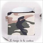 Pochette - droite -zippé - noir kaki marron militaire04 - GFC