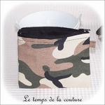 Pochette - droite -zippé - noir kaki marron militaire02 - GFC