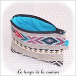 Pochette - droite - zippé - noir rouge bleu mexicain02 - GFC