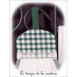 Cuisine - essuie mains - blanc vert abeille et vichy02 - GFC