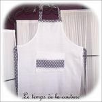 Cuisine - Tablier - blanc gris a pois01 - GFC