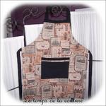 Cuisine - tablier - beige taupe rose noir - etiquette de vin01 - GFC