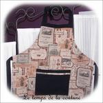 Cuisine - tablier - beige taupe rose noir - etiquette de vin03 - GFC