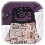 Cuisine - tablier - beige taupe rose noir - etiquette de vin02 - GFC