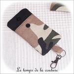 Pochette - porte clé - noir kaki marron militaire02 - GFC