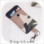 Pochette - porte clé - noir kaki marron militaire03 - GFC