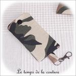 Pochette - porte clé - noir kaki marron militaire04 - GFC