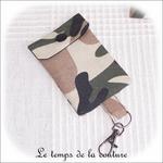 Pochette - porte clé - noir kaki marron militaire05 - GFC