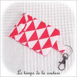 Pochette - porte clé - rouge triangle02 - GFC