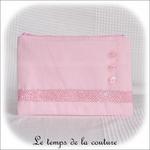 Pochette - droite - zippé - rose croco et boutons01 - GFC
