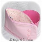 Pochette - droite - zippé - rose croco et boutons03 - GFC