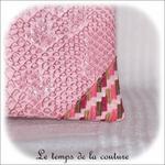 Pochette - droite - zippé - rose simili geometrique rose bordeaux 13 - GFC
