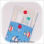 Sdb - Pochette dent - bleu poisson rouge03 - GFC