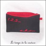 Pochette - droite - zippé - noir rouge br 123 abc01 - PFC