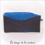 Pochette - droite - zippé - noir bleu br 123 abc02 - GFC