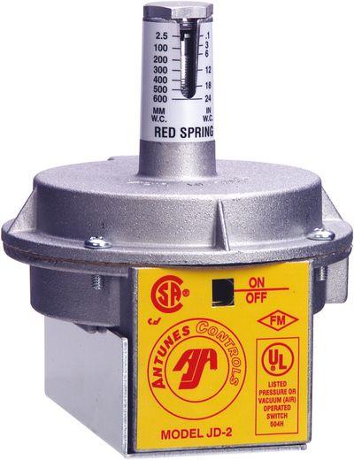 Pressostat air JD2 UL ressort - Antunes Controls