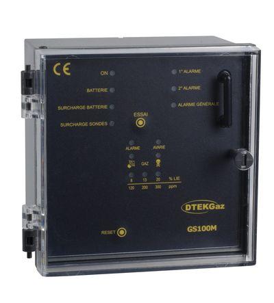 Centrale de détection de gaz 1 sonde GS100M - DTK08002 - D-TEK