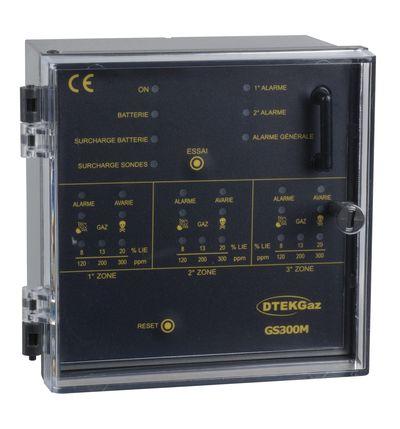 Centrale de détection de gaz 3 sondes GS300M - DTK08004 - D-TEK