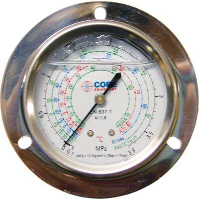 Manomètre glycérine en acier inox avec collerette avant - Core Equipment