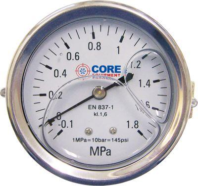 Manomètre glycérine 0 - 18 bars + étrier 07005020 Core Equipment