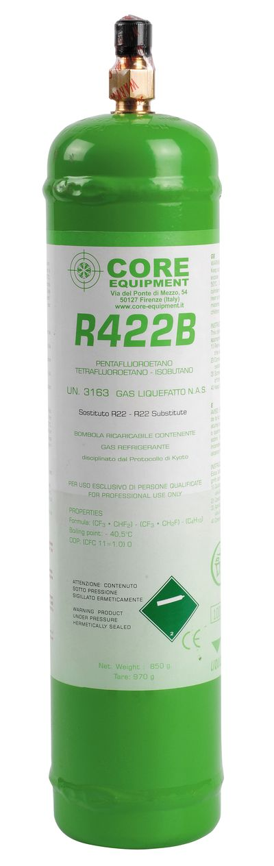 Bouteille rechargeable gaz R422b 850g - 11001010 - Core Equipment