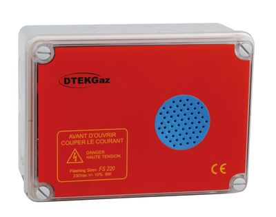 Alarme sonore avec flash 230v FS0230M - DTK20010 - D-TEK