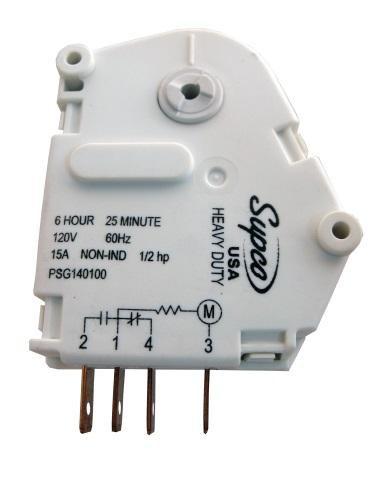 MINUTERIE DE DEGIVRAGE 110V SPG1401GE - SUPCO - COMPATIBLE GE WR9X330