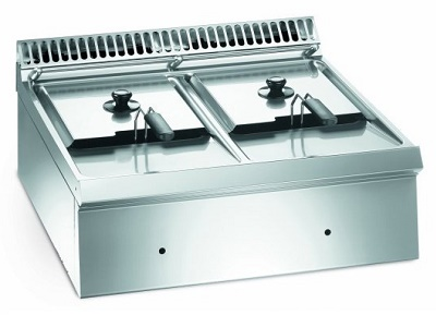 FRITEUSE PROFESSIONNELLE TABLE A GAZ 2 CUVES - MFG 7-70 - EUROFRED