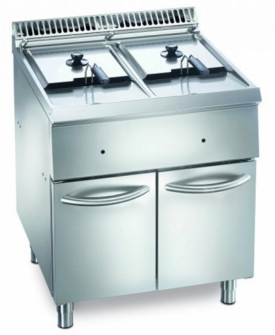 FRITEUSE PROFESSIONNELLE MEUBLE GAZ 2 CUVES - MFG 7-70 - EUROFRED