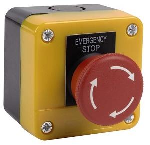 Bouton d\'arrêt d\'urgence coup de poing - ELK50001 - Elektrogas